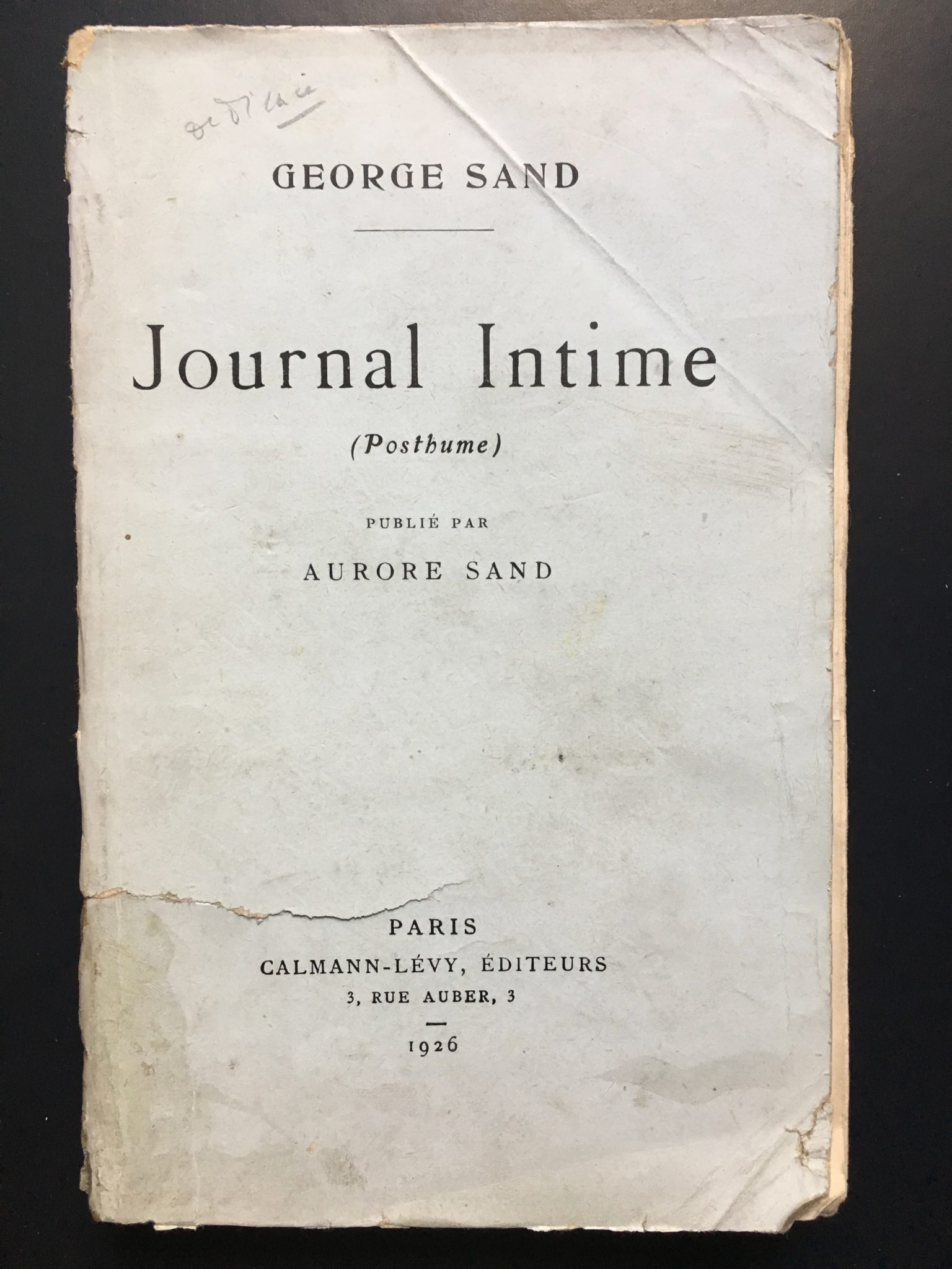 Journal-Intime sand