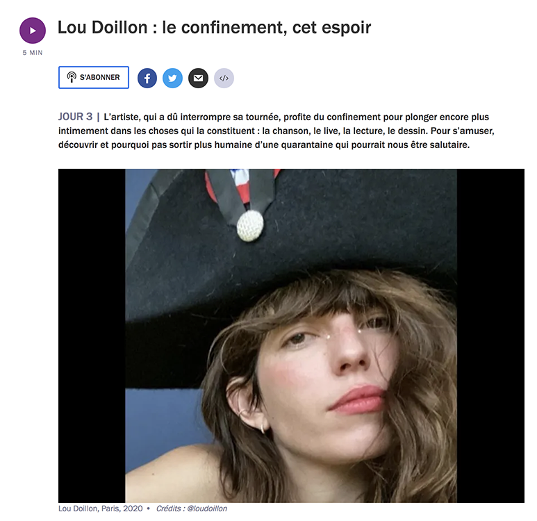 lou doillon france culture